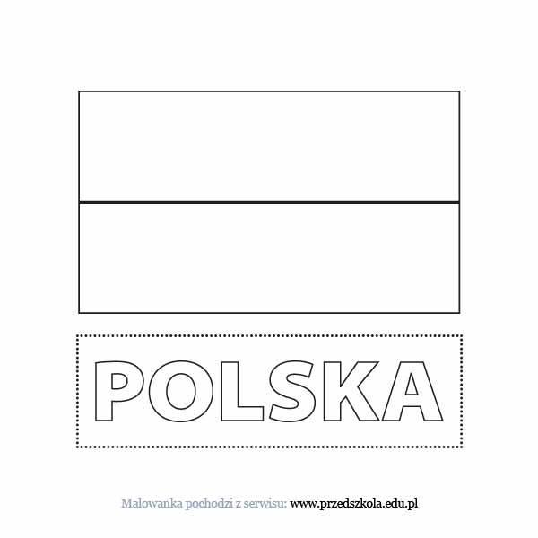 Kolorowanka Flaga Polski