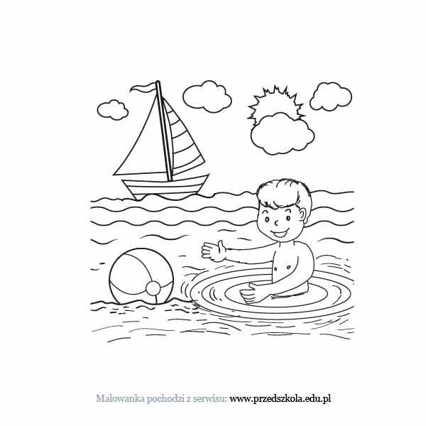 Kolorowanki Komiksy Do Druku Za Darmo Dla Dzieci I: Lato Kolorowanka. Darmowe Kolorowanki I Malowanki Dla