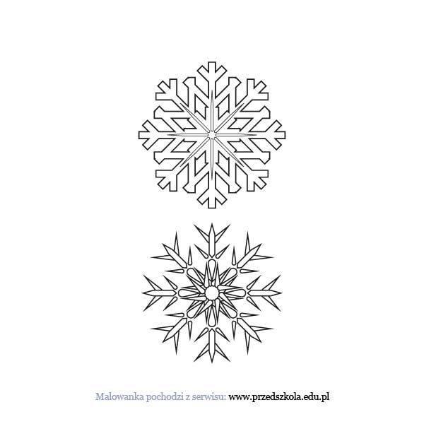 Platki Sniegu Kolorowanka Darmowe Kolorowanki I Malowanki Dla