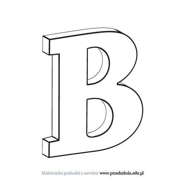 Litera B Kolorowanka Darmowe Kolorowanki I Malowanki Dla Dzieci