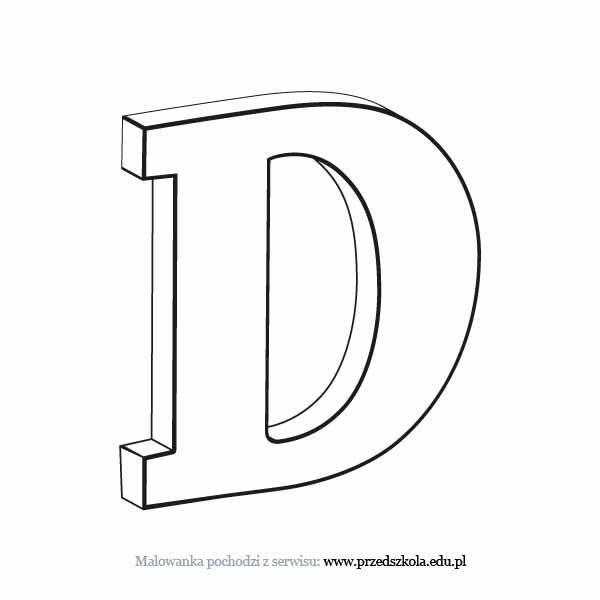 Litera D Kolorowanka Darmowe Kolorowanki I Malowanki Dla Dzieci