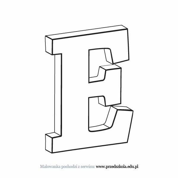 Litera E Kolorowanka Darmowe Kolorowanki I Malowanki Dla Dzieci