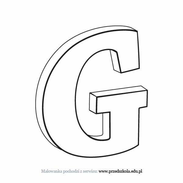 Litera G Kolorowanka Darmowe Kolorowanki I Malowanki Dla Dzieci