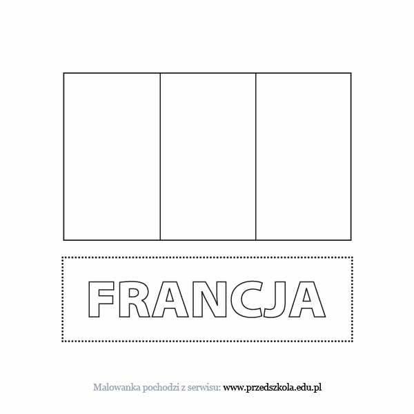 Flaga Francji Kolorowanka Darmowe Kolorowanki I Malowanki Dla