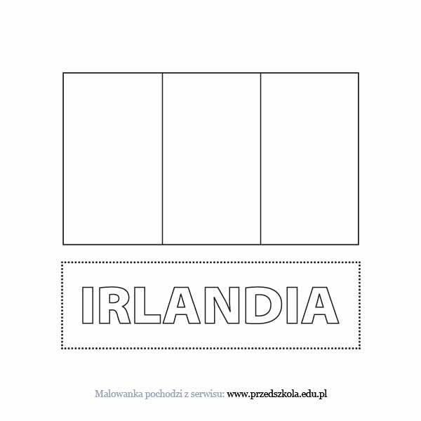 Kolorowanka Flaga Irlandii