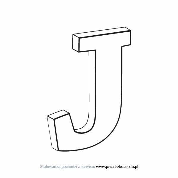 Litera J Kolorowanka Darmowe Kolorowanki I Malowanki Dla Dzieci