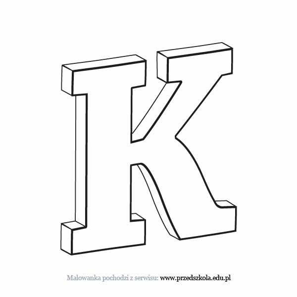 Litera K Kolorowanka Darmowe Kolorowanki I Malowanki Dla Dzieci
