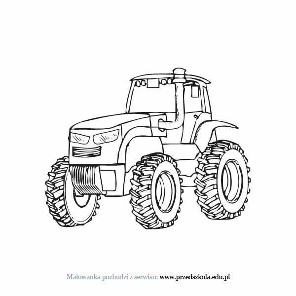 Traktor Kolorowanka Darmowe Kolorowanki I Malowanki Dla Dzieci
