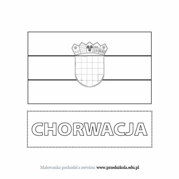 Flaga Chorwacji Kolorowanka Darmowe Kolorowanki I Malowanki Dla