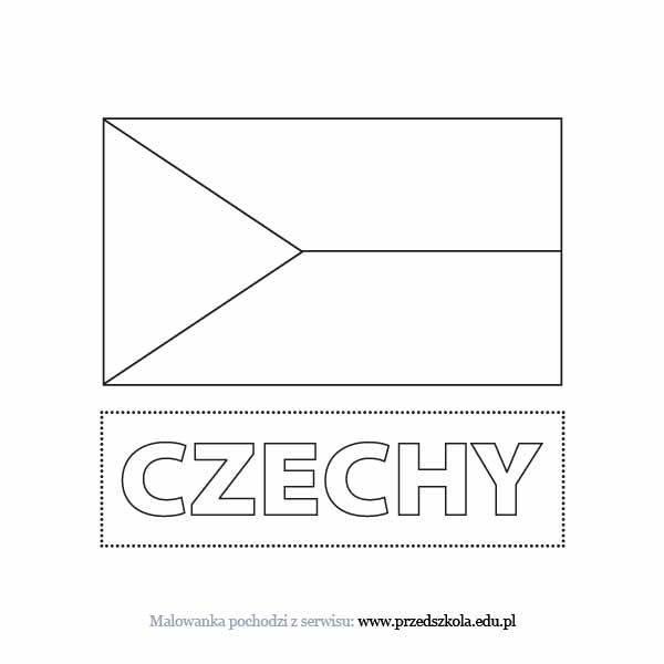 Kolorowanka Flaga Czech