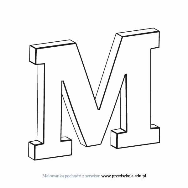 Litera M Kolorowanka Darmowe Kolorowanki I Malowanki Dla Dzieci