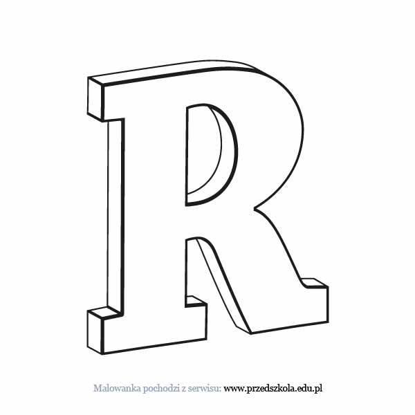 Litera R Kolorowanka Darmowe Kolorowanki I Malowanki Dla Dzieci