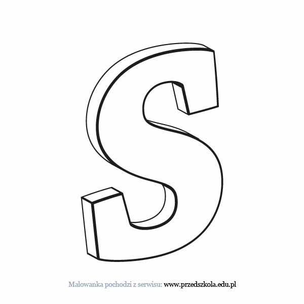 Litera S Kolorowanka Darmowe Kolorowanki I Malowanki Dla Dzieci