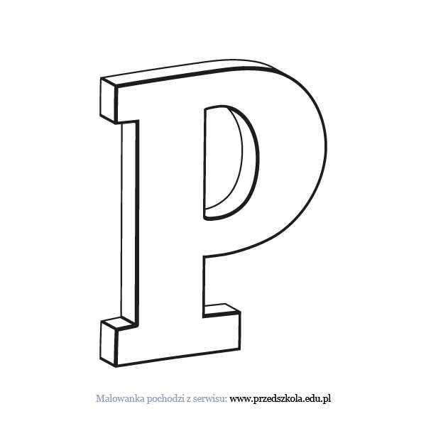 Litera P Kolorowanka Darmowe Kolorowanki I Malowanki Dla Dzieci
