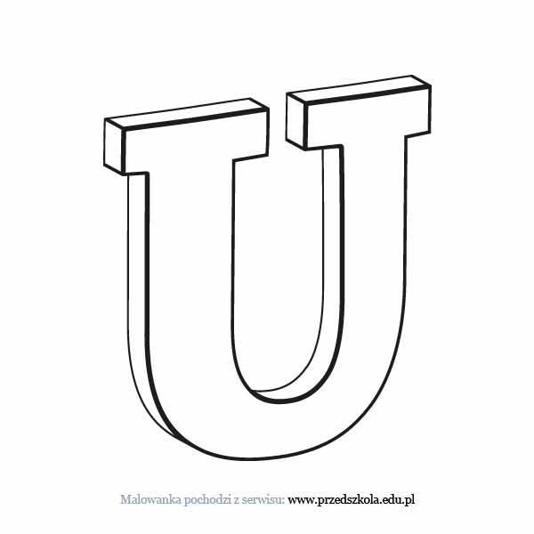 Litera U Kolorowanka Darmowe Kolorowanki I Malowanki Dla Dzieci