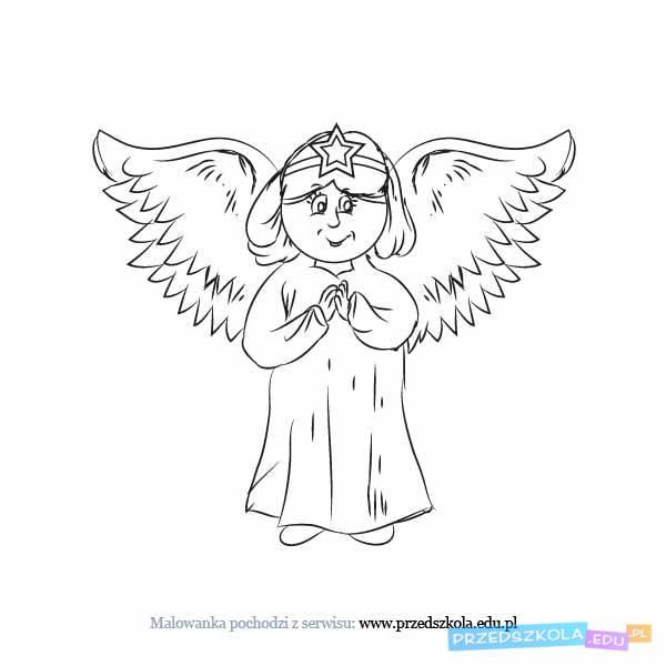 Aniol Kolorowanka Darmowe Kolorowanki I Malowanki Dla Dzieci