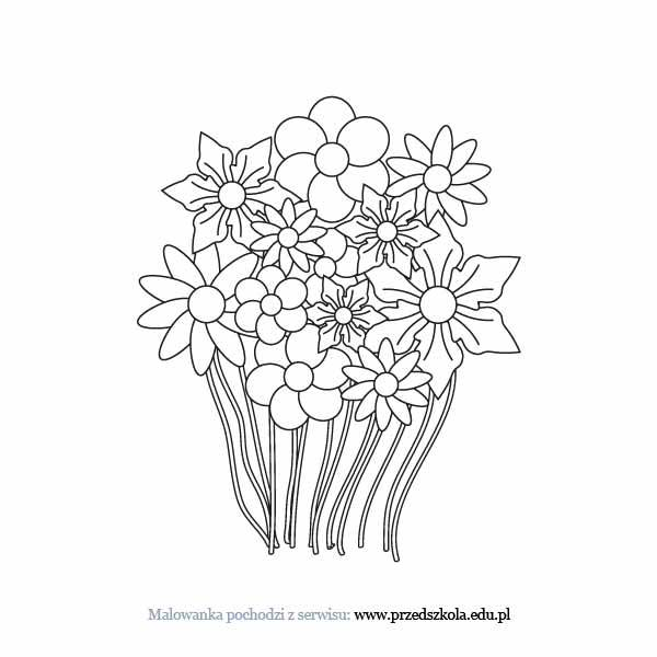 Kwiaty Kolorowanka Darmowe Kolorowanki I Malowanki Dla Dzieci