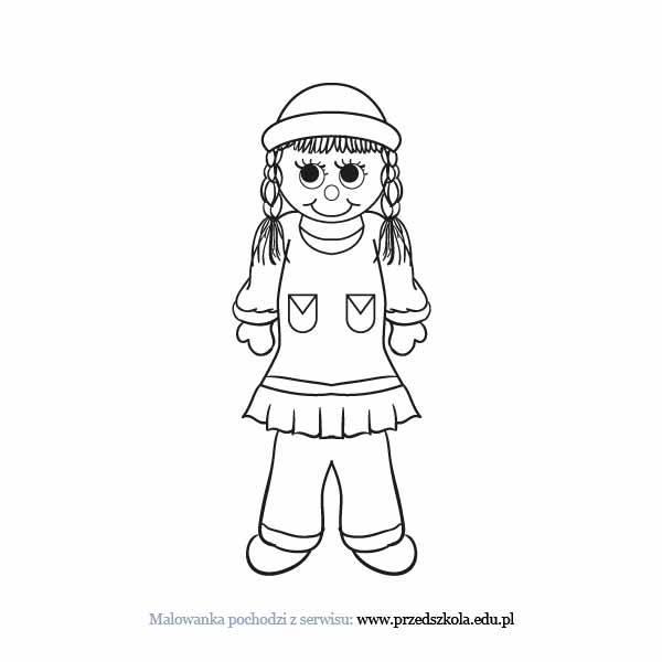 Lalka Kolorowanka Darmowe Kolorowanki I Malowanki Dla Dzieci Lalka