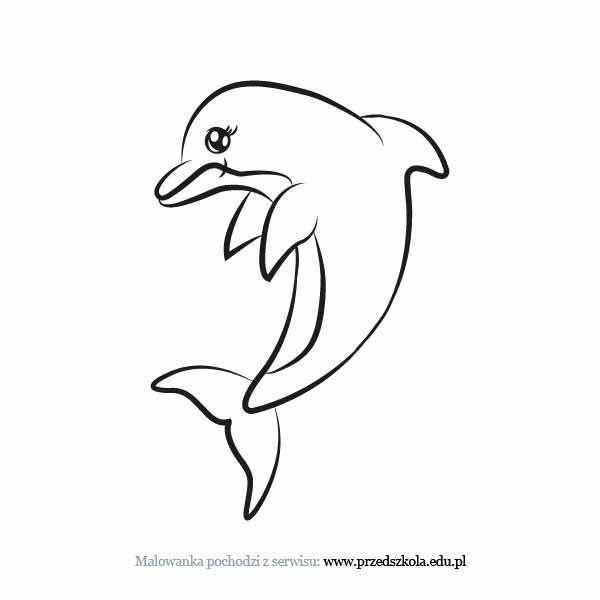 Delfin Kolorowanka Darmowe Kolorowanki I Malowanki Dla Dzieci