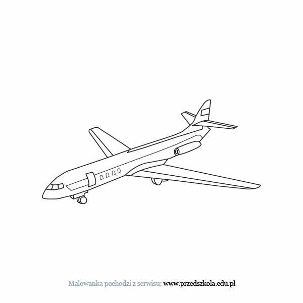 Samolot Kolorowanka Darmowe Kolorowanki I Malowanki Dla Dzieci