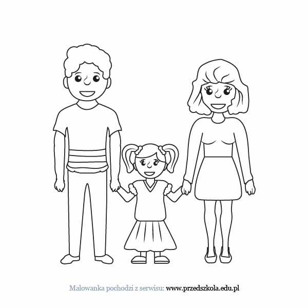 Rodzina kolorowanka. Darmowe kolorowanki i malowanki dla dzieci ...