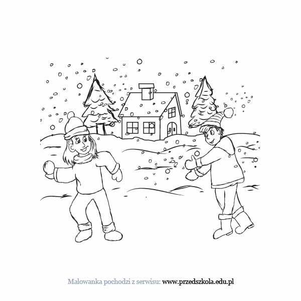 Zima Kolorowanka Darmowe Kolorowanki I Malowanki Dla Dzieci