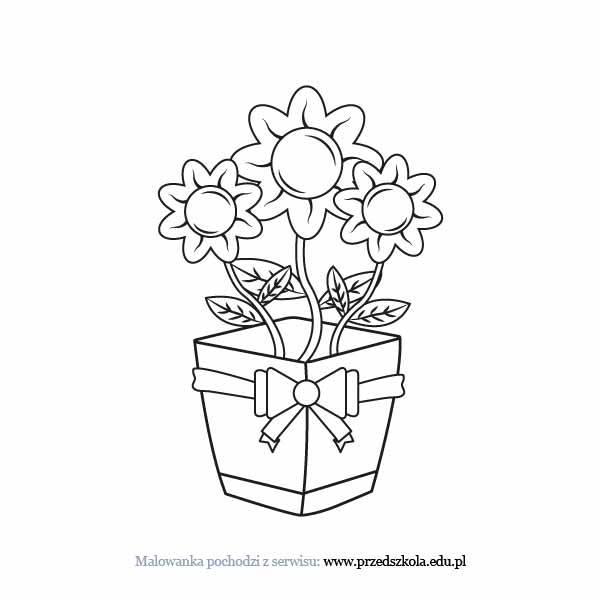 Kwiaty Na Dzien Babci Kolorowanka Darmowe Kolorowanki I Malowanki
