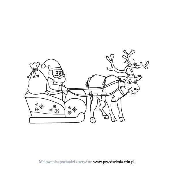 Kolorowanki Boze Narodzenie Mikolaj Malowanki Swiateczne