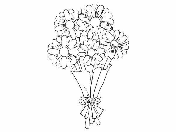 Kwiaty Dla Mamy Kolorowanka Darmowe Kolorowanki I Malowanki Dla